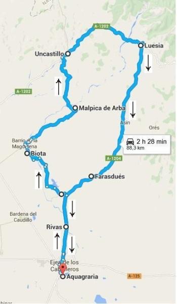 Recorrido ruta carretera web